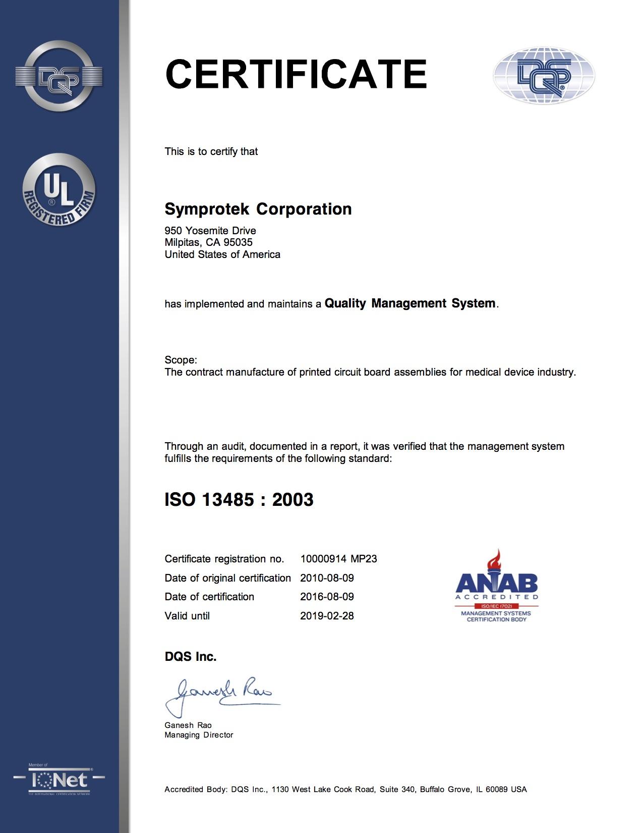 Certifications symprotek corporation turnkey pcb assembly certifications symprotek corporation turnkey pcb assembly supply chain xflitez Gallery